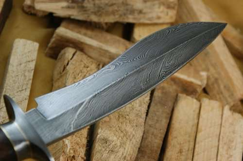 "Knife King ""Cobra"" Damascus Bowie Hunting Knife"