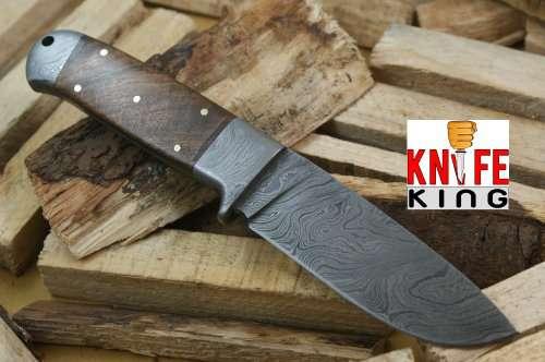 Knife King Helmand  Custom Damascus Handmade Hunting Knife Comes with a sheath