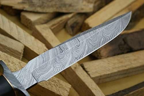 Knife King Model  Custom Damascus Hunting Knife Black Micarta Handle