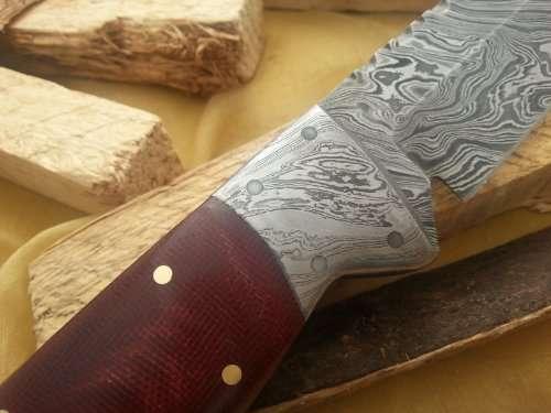 Knife King Snowdown Hunter Custom Damascus Handmade Hunting Knife Top Quality