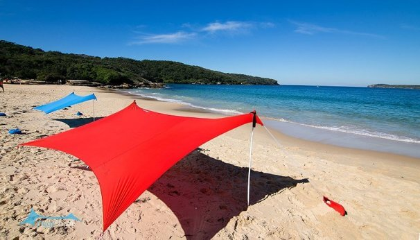 Ziggy Shade Beach Tent - Beach SunShade ZiggyShade With Sandbag Anchors