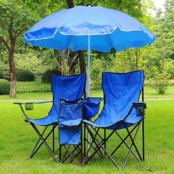 Double C&ing Folding Chair and Umbrella & Double Camping Folding Chair and Umbrella - Camp Stuffs