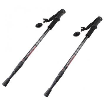 IMAGE-2pcs-6061-Aluminum-Cork-grip-Ergonomic-Anti-Shock-Trekking-Climbing-Sticks-Poles-Alpenstock-Adjustable-Telescoping-Walking-Hiking-Mountaineering-0