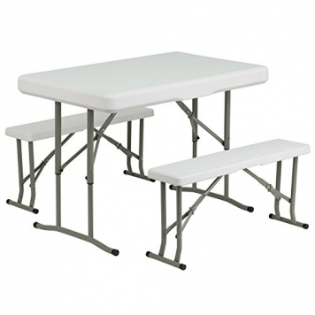 Plastic-Folding-Table-And-Benches-0