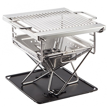 Quick-Grill-Small-Original-Folding-Charcoal-BBQ-Grill-Made-from-Stainless-Steel-Portable-and-Great-for-Camping-Picnics-Backpacking-Backyards-Survival-Emergency-Preparation-0