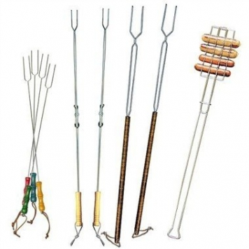 Romes-Set-of-9-Forks-for-Marshmallows-and-Hot-Dogs-Chrome-Plated-Steel-0