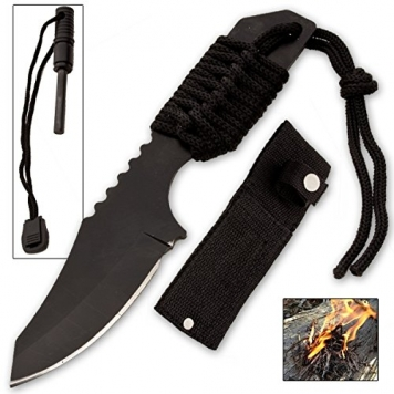 Szco-Supplies-Tanto-Survivor-Fire-starter-Knife-Black-0