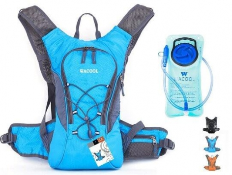 Wacool Hydration Bladder Waterproof Pack, Hiking Lightweight Daypack